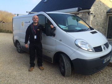 Graham Whitbourn with van